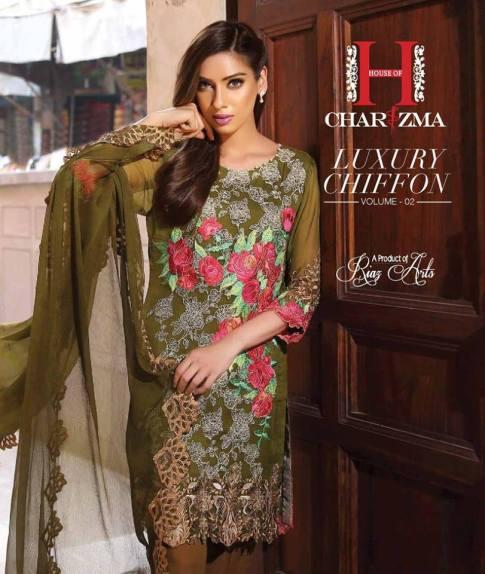 Luxury Chiffon Eid Collection Vol-2 Charizma 2016