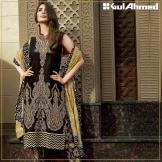 Embroidered Chiffon Pret Eid Dresses Gul Ahmed 2016 6