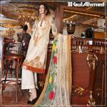 Embroidered Chiffon Pret Eid Dresses Gul Ahmed 2016 8