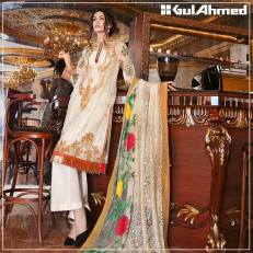 Embroidered Chiffon Pret Eid Dresses Gul Ahmed 2016 8