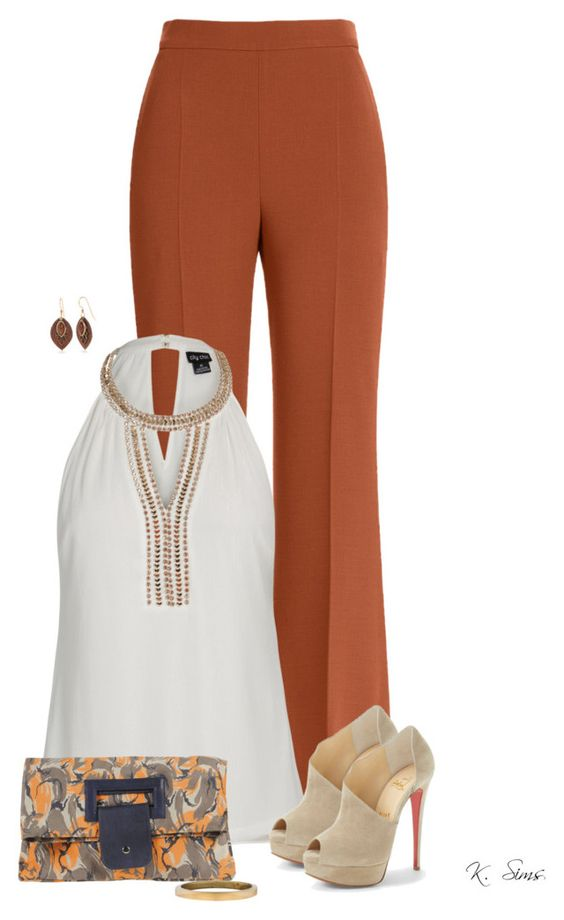Flared Trousers For Women Polyvore Combos For Autumn 5