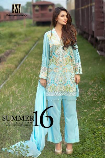 Mausummery Summer Lawn Monsoon Collection 2016 8