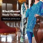 Trencia Satin Silk Eid Collection Gul Ahmed 2016