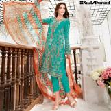 Trencia Satin Silk Eid Collection Gul Ahmed 2016 2