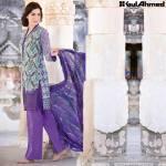 Trencia Satin Silk Eid Collection Gul Ahmed 2016 5