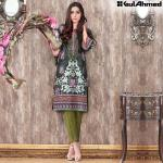 Trencia Satin Silk Eid Collection Gul Ahmed 2016 9