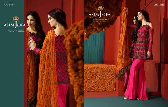 Asim Jofa Luxury Embroidered Chiffon Dresses 2016-17 13