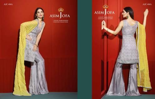 Asim Jofa Luxury Embroidered Chiffon Dresses 2016-17 16