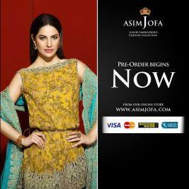 Asim Jofa Luxury Embroidered Chiffon Dresses 2016-17 2