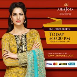 Asim Jofa Luxury Embroidered Chiffon Dresses 2016-17 3