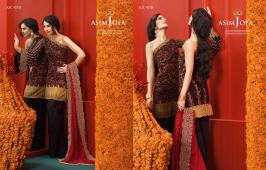 Asim Jofa Luxury Embroidered Chiffon Dresses