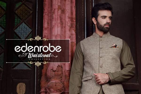 Edenrobe Festive Waistcoats Eid Ul Azha Collection 2016-17