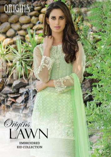 Embroidered Festive Eid Lawn Origins Collection 2016-17 7