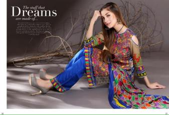 Mahnoor Embroidered Linen Dresses Winter Collection 2016-17