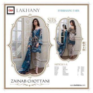 Zainab Chottani Silk Dresses Winter Collection 2016-17