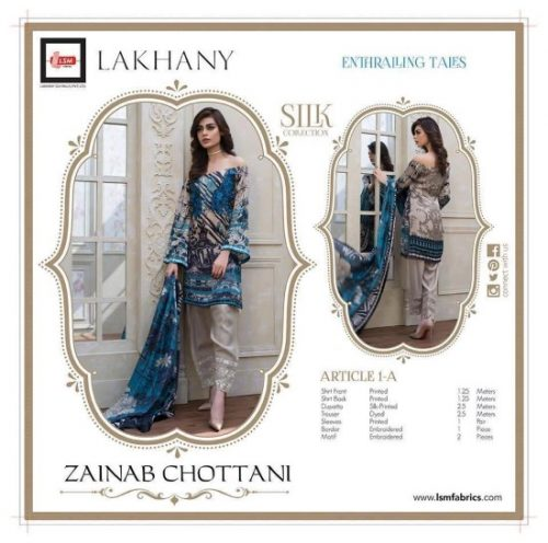 Zainab Chottani Silk Dresses Winter Collection 2016-17