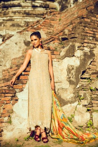 Teena Durrani Basics Luxury Traditional Collection 2017 6
