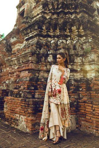 Teena Durrani Basics Luxury Traditional Collection 2017 7