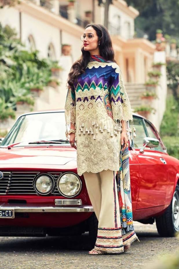Faraz Manan Luxury Spring-Summer Lawn Dresses 2017