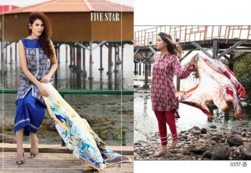 Classic Lawn Shalwar Kameez By Five Star Textiles 2017