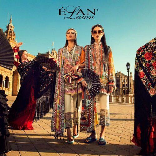 Elan Summer Lawn Shalwar Kameez Collection 2017