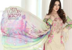 Floss Embroidered Luxury Lawn Shalwar Kameez Vol-2 2017 4