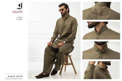 Ismail Farid Eid Kurta Shalwar Designs For Men 2017 4