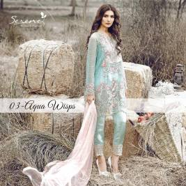 Serene Royal Chiffon Eid Dresses Summer Collection 2017 3