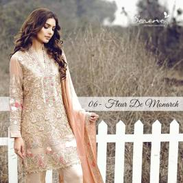 Serene Royal Chiffon Eid Dresses Summer Collection 2017 5
