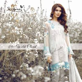 Serene Royal Chiffon Eid Dresses Summer Collection 2017 8