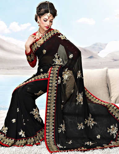 15 Black Sarees Combos That Should Be Worn On Events