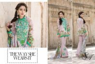 Qalamkar Eid Lawn Collection Embroidered Modern Dresses 2017