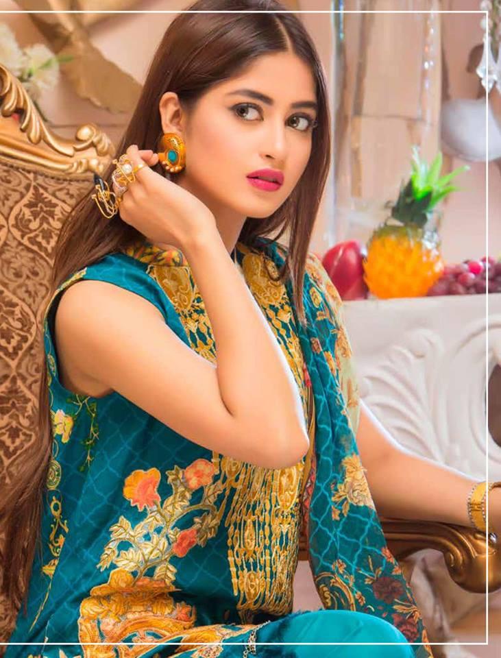 Qalamkar Luxury Festive Eid Lawn Summer 2017