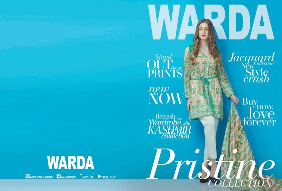 Warda Modern Lawn Kashmiri-Pristine Collection 2017