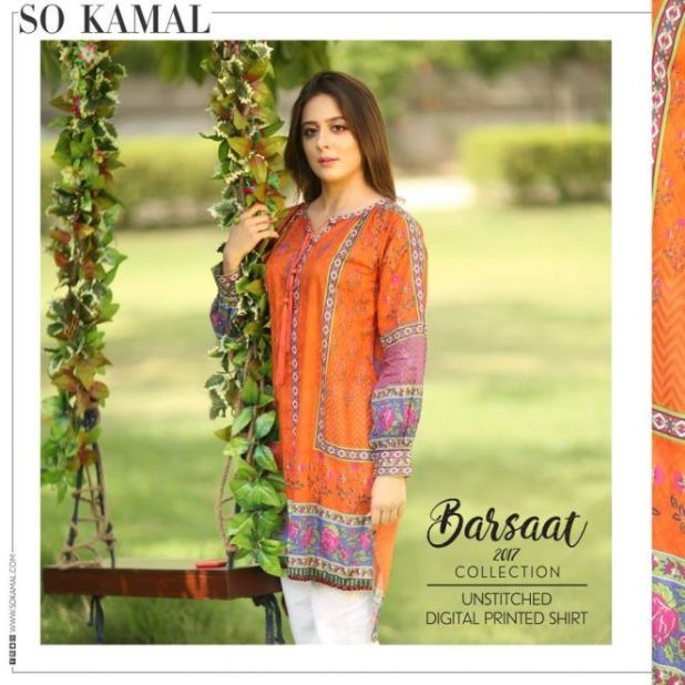 So Kamal Barsaat Digital Unstiched Collection 2017