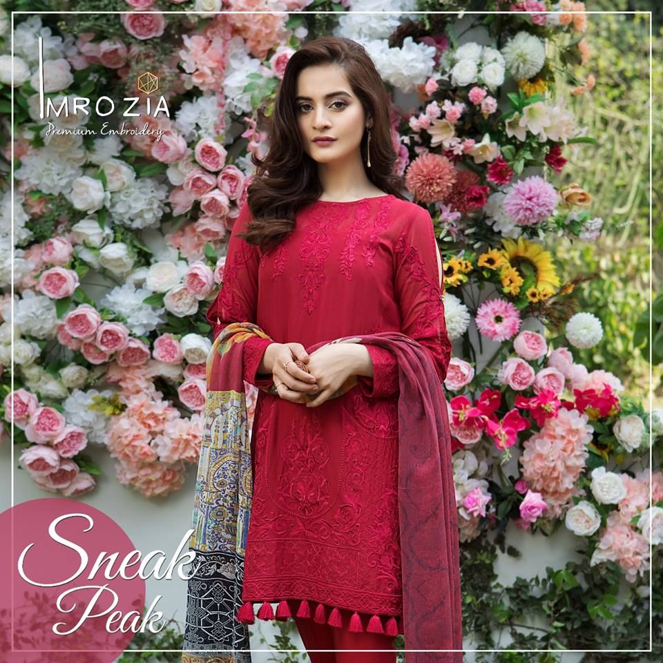 Imrozia Luxury Premium Lawn Dresses Collection 2018