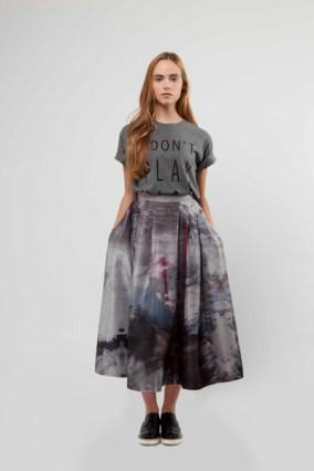 Liminal Digital Print Skirt £320 & Slogan Tee £65