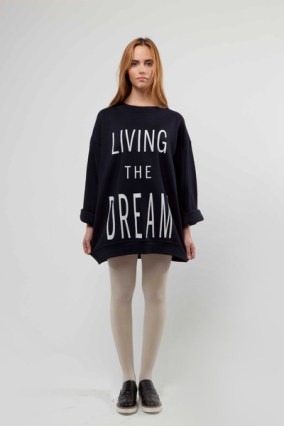 """Living The Dream"" Unisex Screen Printed Sweatshirt £120"