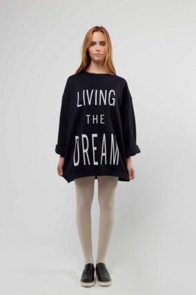 """Living The Dream"" Unisex Screen Printed Sweatshirt £120"