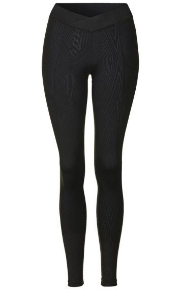 Reflective linear print ankle leggings, £100