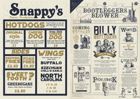 Billy Bootleggers Newcastle Menu 2