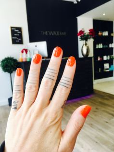 Orange Gel Nails The Wax Bar