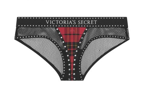 tartan full briefs with mesh detailing from VS x Balmain first collection