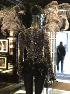 Bella Hadid Blue Crystal Nights Costume Victoria's Secret Fashion Show 2016 rear view of wings