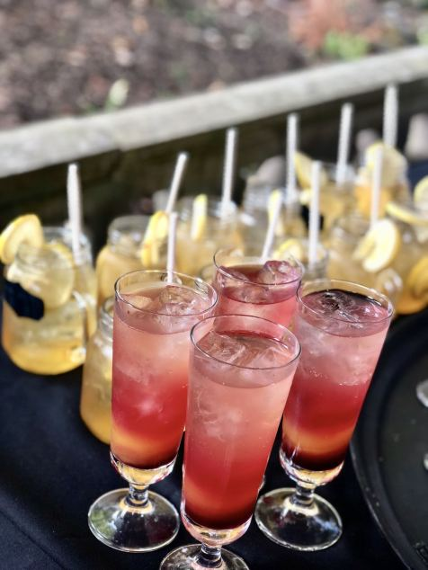 Durham gin & honey cocktails and sunset themed mocktails at the Slaley Hall Summer soiree in Northumberland - Fashion Voyeur Blog