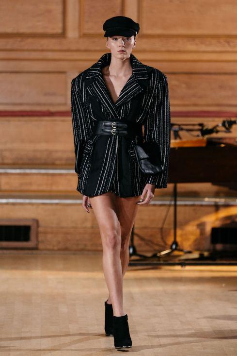 Solo model on the runway for Chanel Joan Elkayam FW19 at London Fashion Week Fashion Voyeur Blog by Pixie Tenenbaum