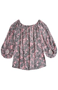 Tahitian Floral Print Madelyn Off-The-Shouler Top