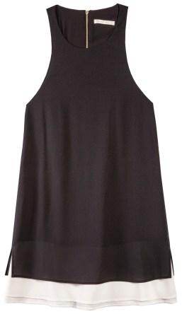 Black Makayla Layered Dress