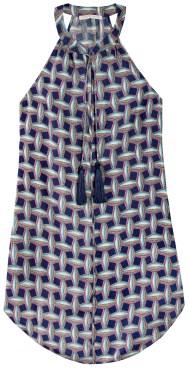 Geometric Square Print Layla Tassle Dress