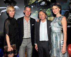 Amber Valletta, Stefano Tonchi, Leon Max, Angela Lindvall